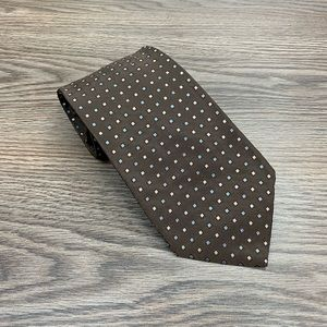 Brooks Brothers NWT Brown w/ Blue Check Tie
